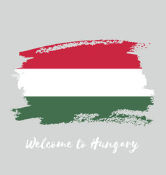 Hungary watercolor national country flag icon vector
