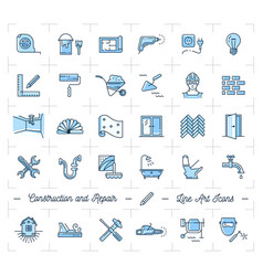 icons repair home improvement construction and vector image