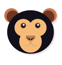 Isolated monkey face vector