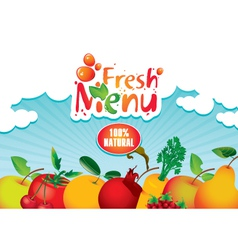 juices and fresh vector image