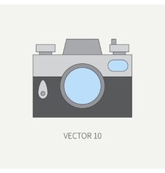 Line flat icon with retro analog film vector