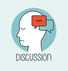 profile human head discussion vector image