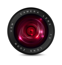 Red lens vector image