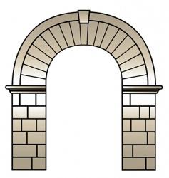 Roman archway vector