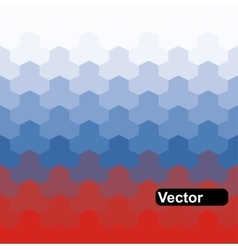 Russian flag of geometric shapes vector