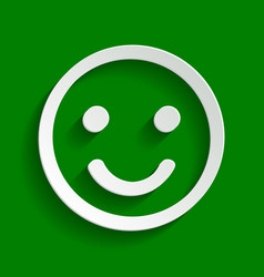 Smile icon paper whitish icon with soft vector