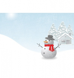 snowman vector image vector image
