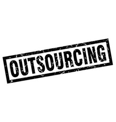Square grunge black outsourcing stamp vector