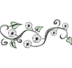 Twining vines vector