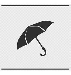 Umbrella icon black color on transparent vector