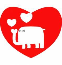 valentine elephant vector image vector image