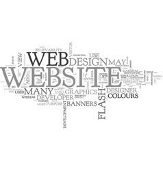 Web design myths text word cloud concept vector