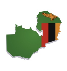 zambia africa map flag vector image vector image