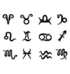 Horoscope zodiac signsicons vector image