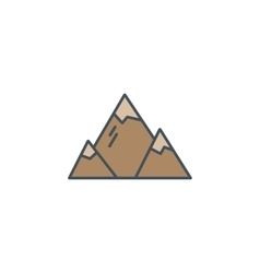 Summer and winter mountain explorer camp icon in vector