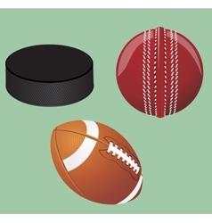 Set of sport equipment vector image