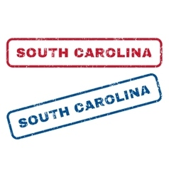 South carolina rubber stamps vector