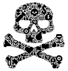 Concept of human skull vector image