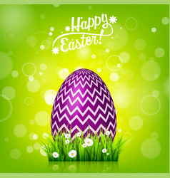 Easter egg hunt green background april holidays vector