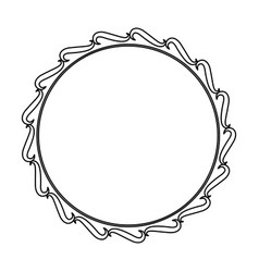 Frame decoration swirl crest empty floral line vector