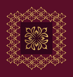 Luxury ornamental design background in golden vector