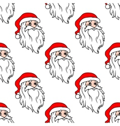 Cartoon santa seamless pattern vector