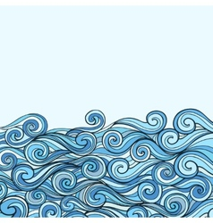 Blue sea wave background vector