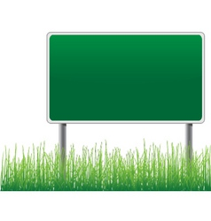 Empty billboard grass below vector