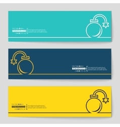 Concept banner background vector