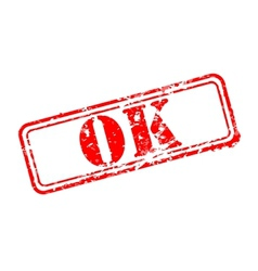 Ok rubber stamp vector