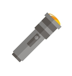 Flat flashlight icon vector