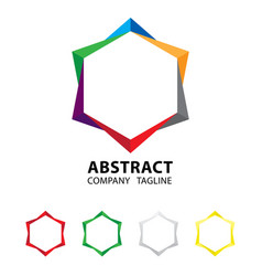 Abstract colorful logo design on white background vector