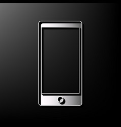 Abstract style modern gadget with blank screen vector