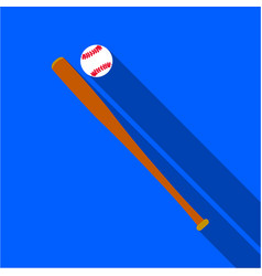 Baseball icon flate single sport icon from the vector