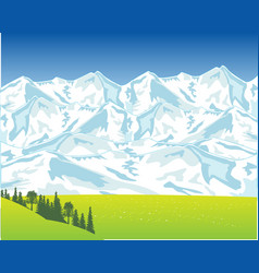 Beautiful landscape with mountain vector