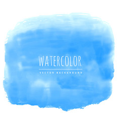 Blue watercolor ink effect real stain background vector