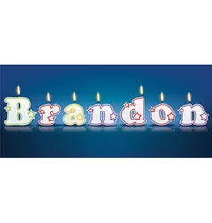 Brandon written with burning candles vector