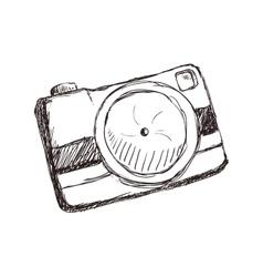 Camera focus gadget technology icon vector