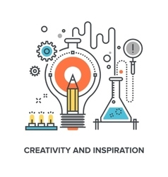 creativity and inspiration vector image vector image
