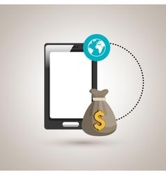 Economic business online isolated icon design vector
