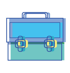 Elegant briefcase to save important document vector
