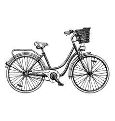 European city bike vector