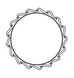 Frame decoration swirl crest empty floral line vector