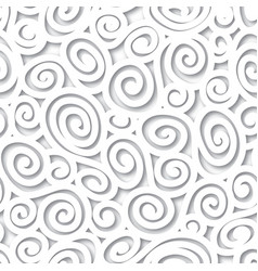 Geometric scroll seamless pattern abstract swirl vector