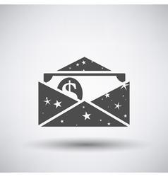 Gift envelop icon vector