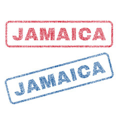 Jamaica textile stamps vector