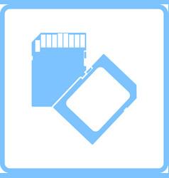 memory card icon vector image