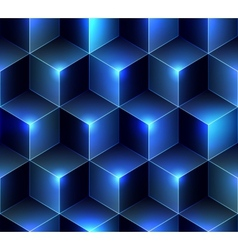 Navy blue cubes background vector