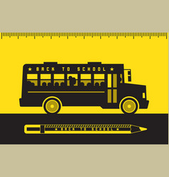 school bus back to school vector image