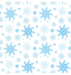 Snowflake seamless background new year pattern vector